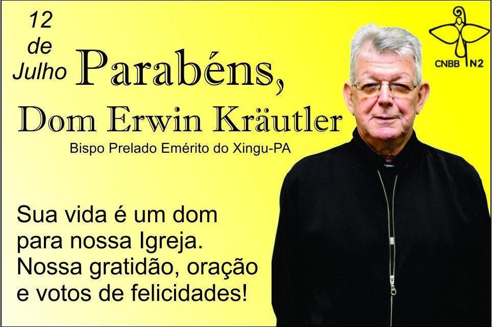 Dom Erwin celebra natalício no Xingu