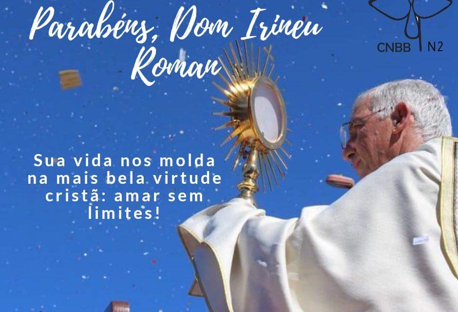 Dom Irineu Roman celebra 60 anos de vida