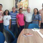 Em Bragança, o Conselho do laicato da diocese se reúne com dom Jesus Maria Cizaurre.