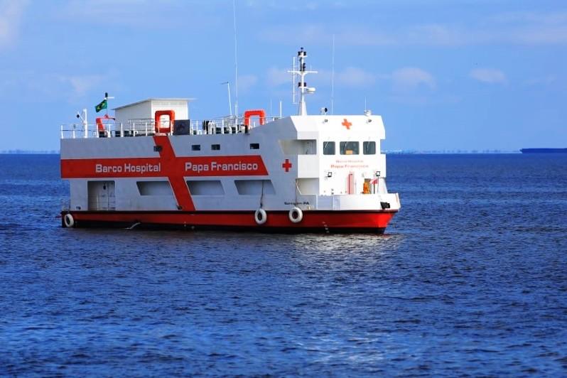 Barco-Hospital Papa Francisco será inaugurado neste final de semana, em Belém