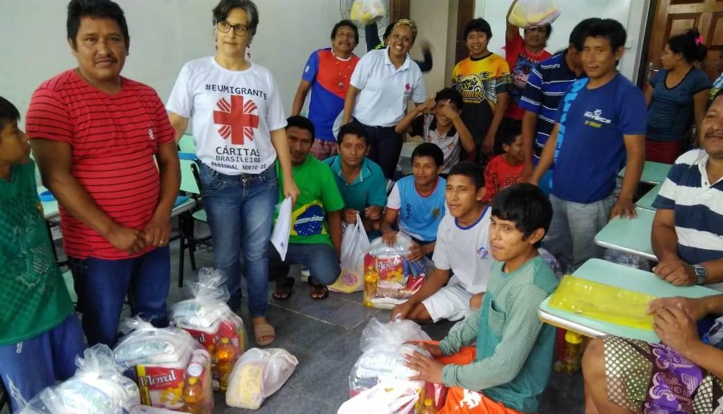 Cáritas Regional Norte 2 retoma entrega de cestas básicas do Projeto Migração e Refúgio