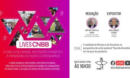Arcebispo de Manaus (AM) é o convidado do projeto LIVES CNBB de amanhã, 21 de maio