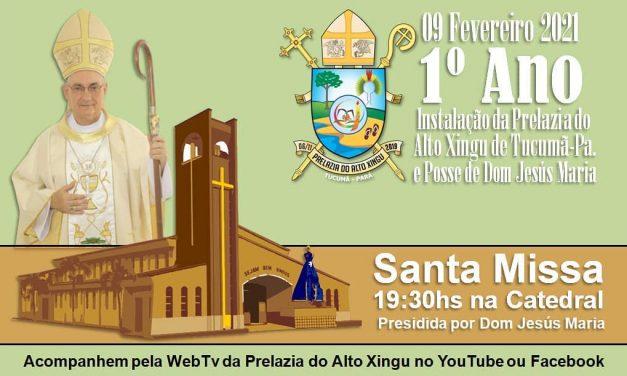 Prelazia do Alto Xingu celebrou seu 1° ano de instalação, nesta terça-feira, 9 de fevereiro